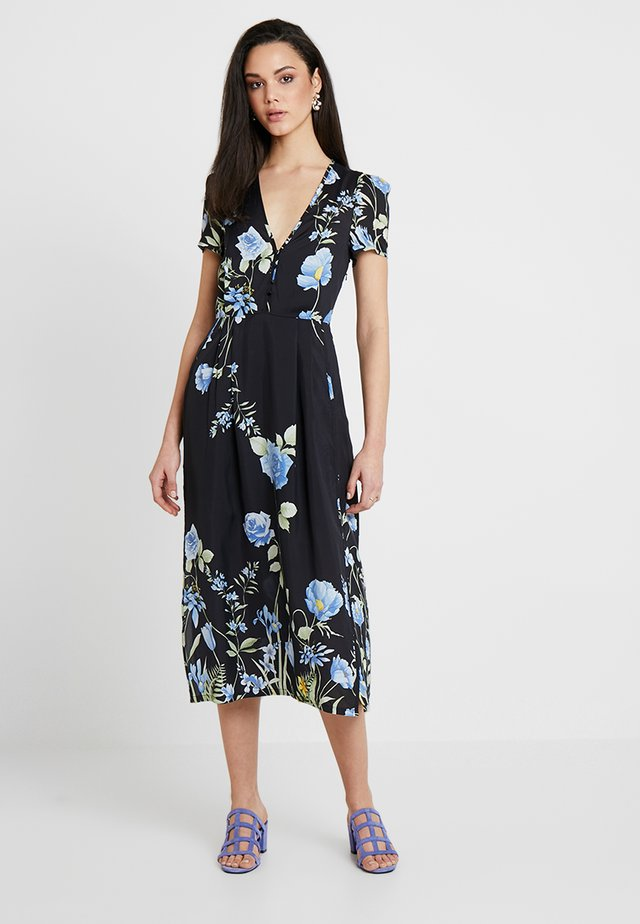 FLOWER GIRL MIDI DRESS - Paitamekko - black