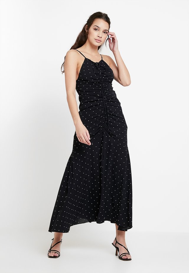 OSCAR ROUCHED DRESS - Iltapuku - black