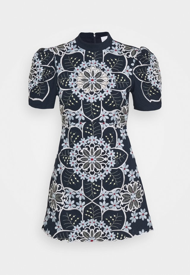 AFTERNOON TONIC MINI DRESS - Cocktailjurk - indigo