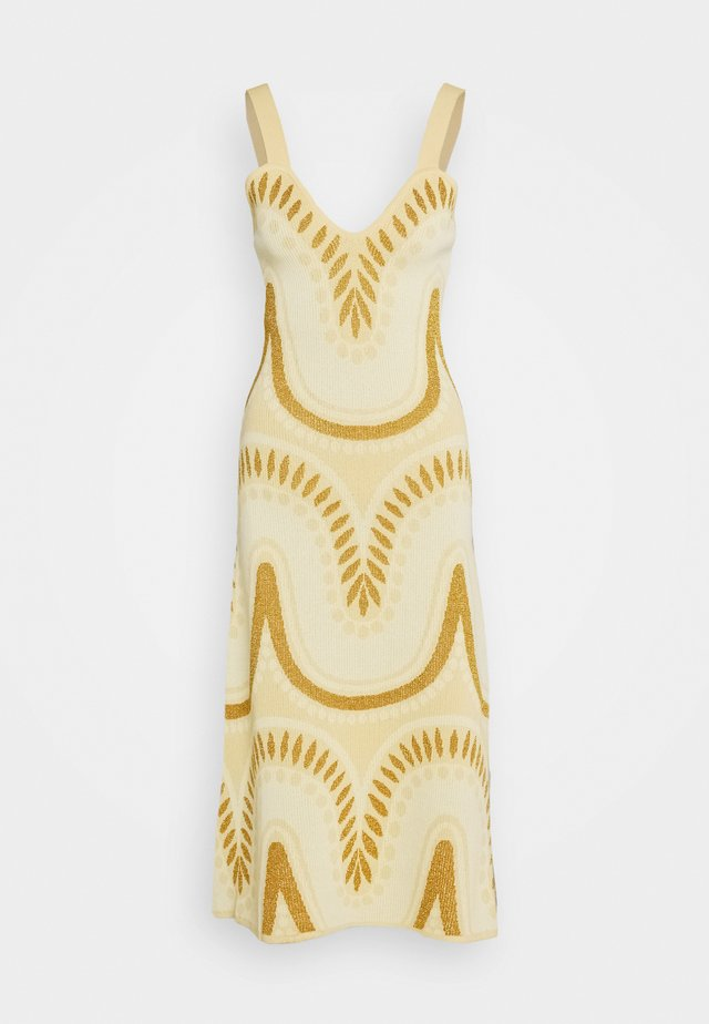 WINDSWEPT SIGHS MIDI DRESS - Gebreide jurk - meringue