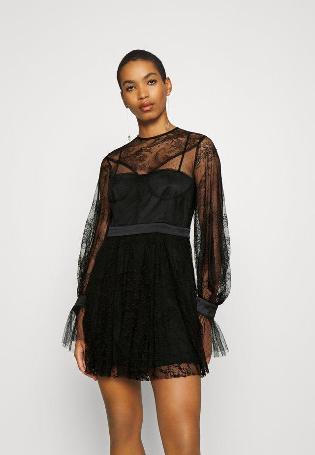 LOVE MINI DRESS - Cocktailkjole - black