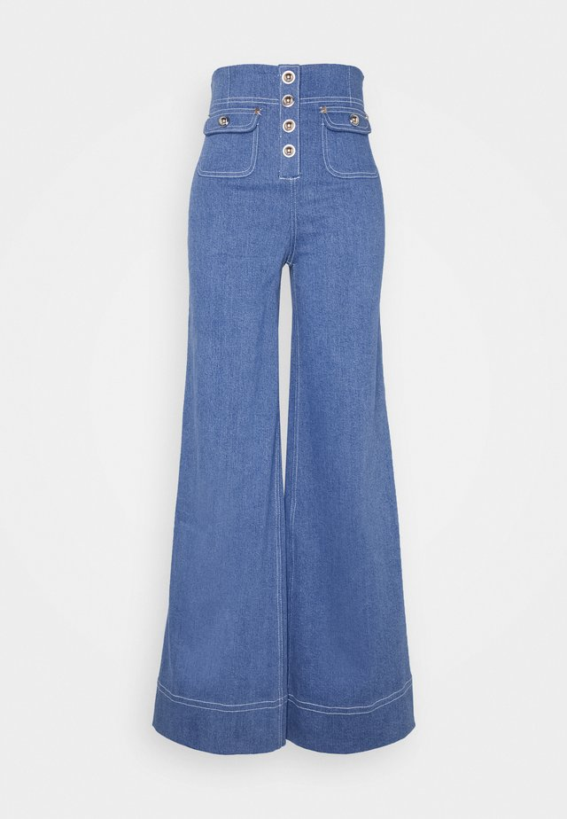 WOODSTOCK PANT - Flared jeans - denim