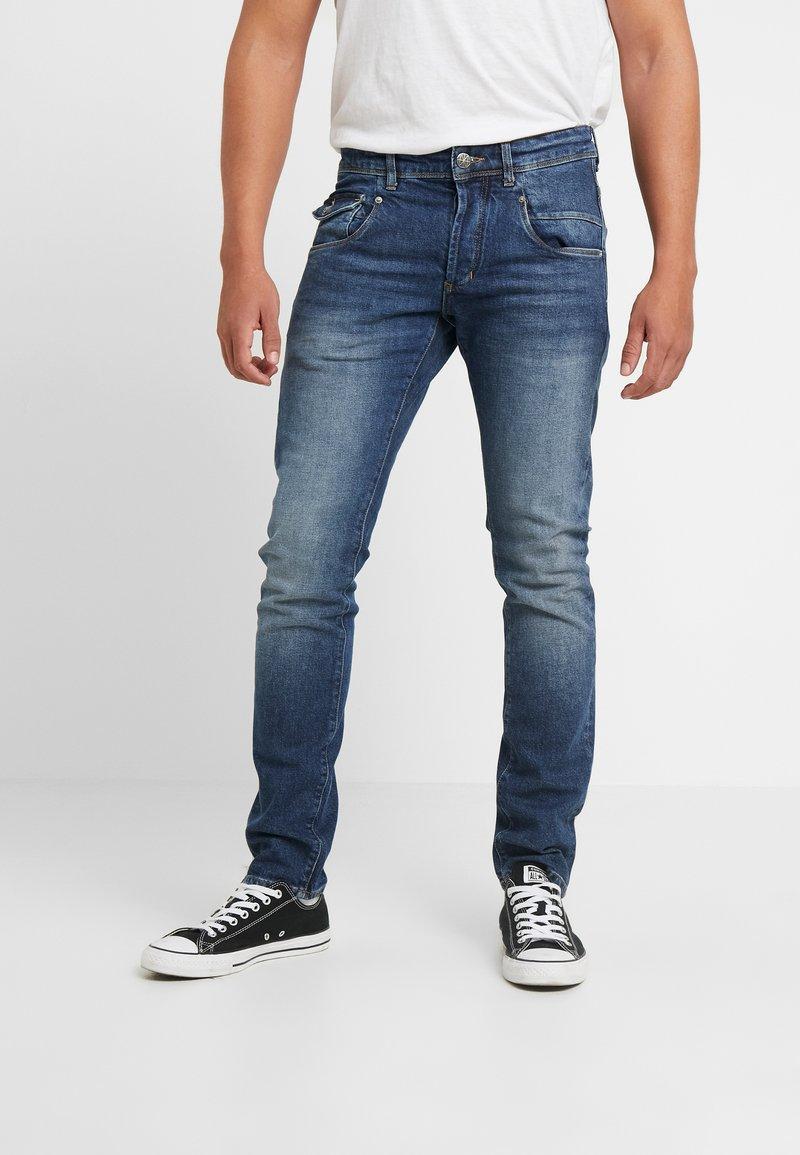 Amsterdenim - JOHAN - Slim fit jeans - donker steen