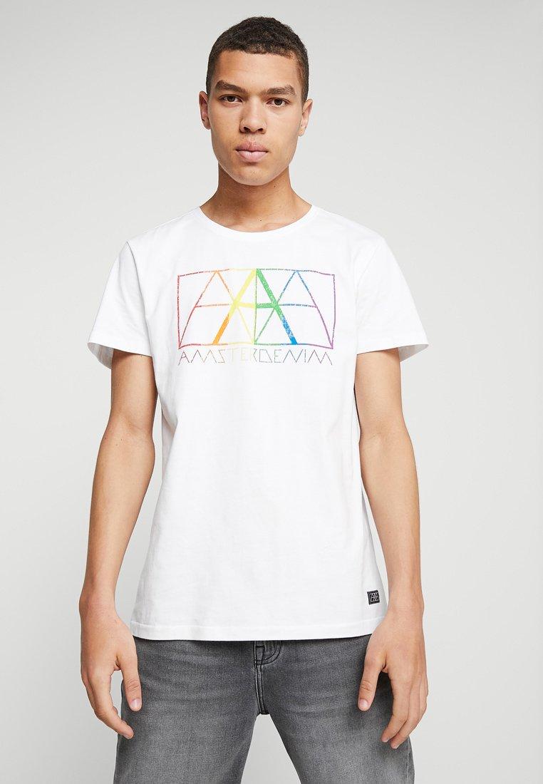 Amsterdenim - PRIDE - Print T-shirt - white