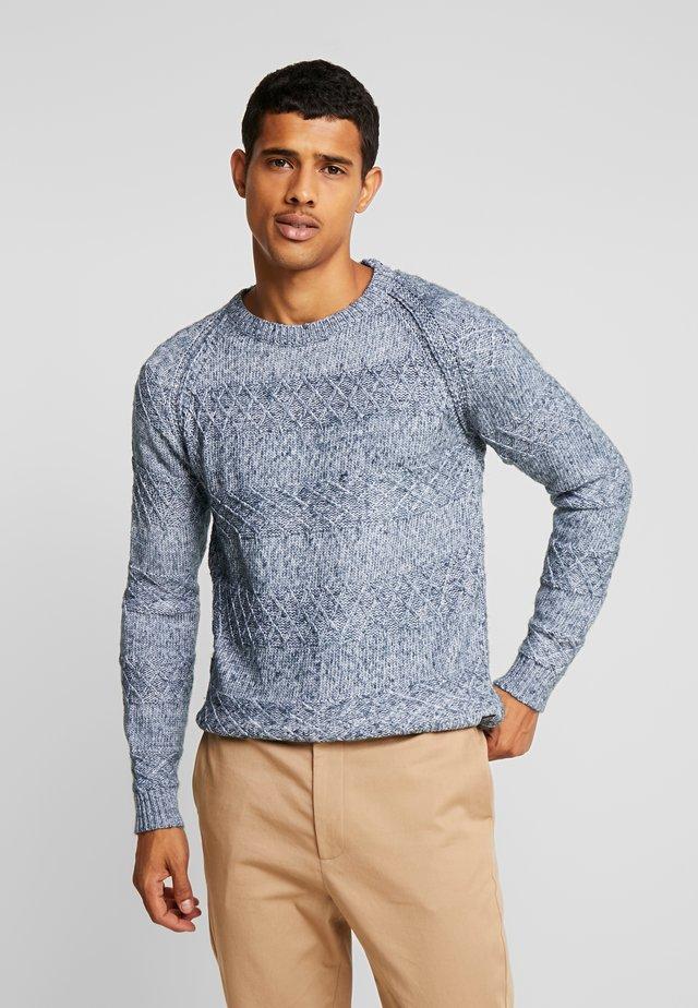 JOZIAS - Stickad tröja - blue melange