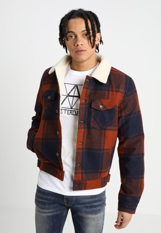 BEN - Light jacket - navy blue/rust check
