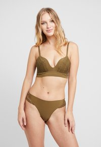 AMOSTYLE - SIGNATURE SMOOTH JOY BRA - Soutien-gorge triangle - dried laver - 1