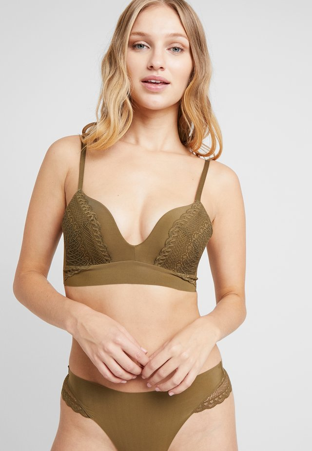 SIGNATURE SMOOTH JOY BRA - Triangel BH - dried laver
