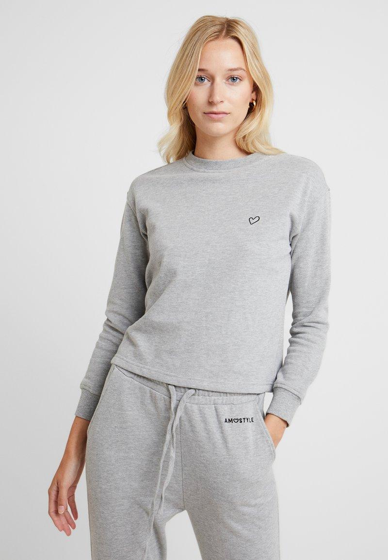 AMOSTYLE - SWEATER - Pyjamashirt - grey combination