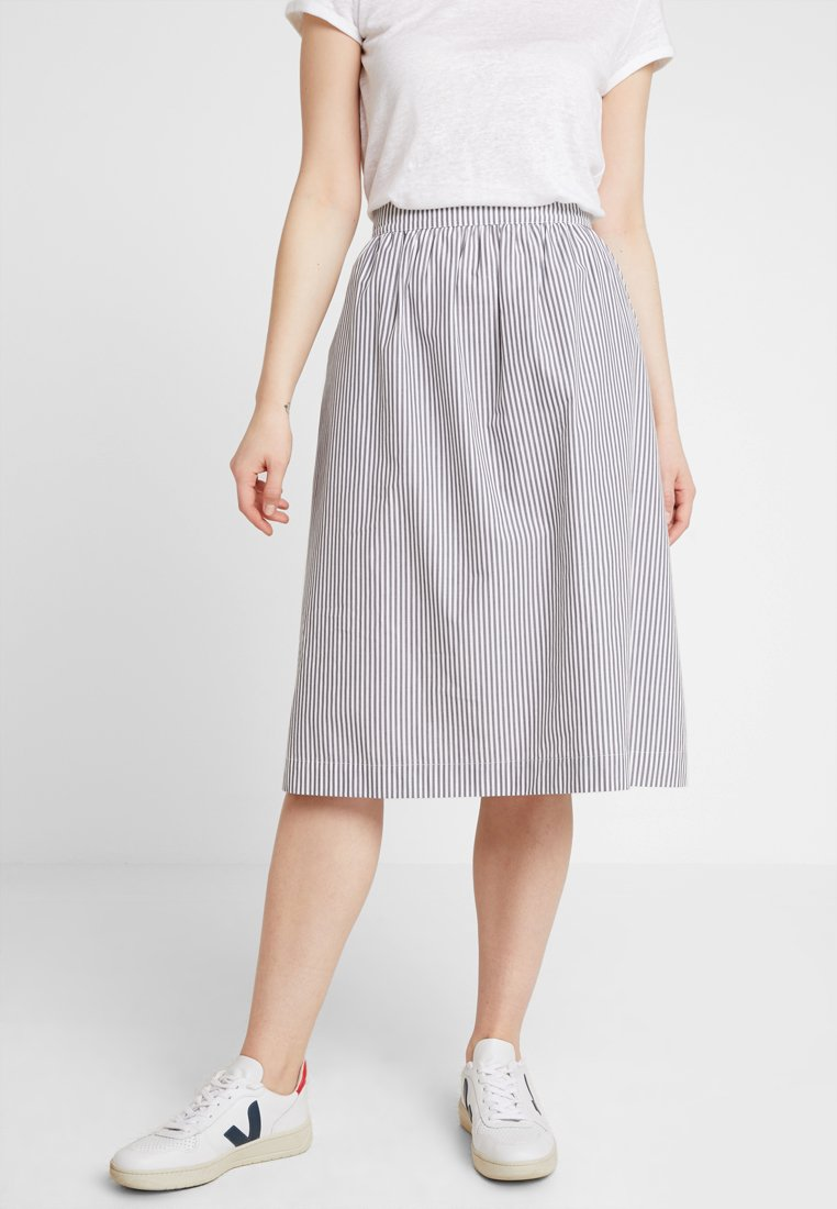 AMOV - BETTY CLASSIC SKIRT - A-Linien-Rock - grey/white