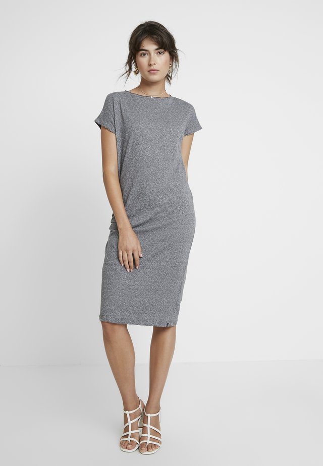 ANE FLAME DRESS - Vestito di maglina - light grey melange
