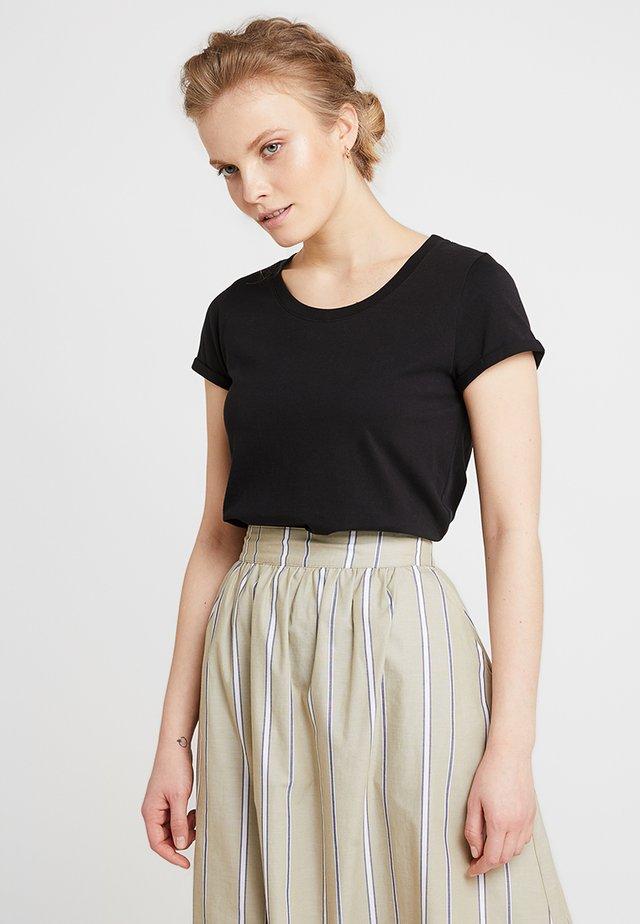 ALMA BASIC TEE - Basic T-shirt - black