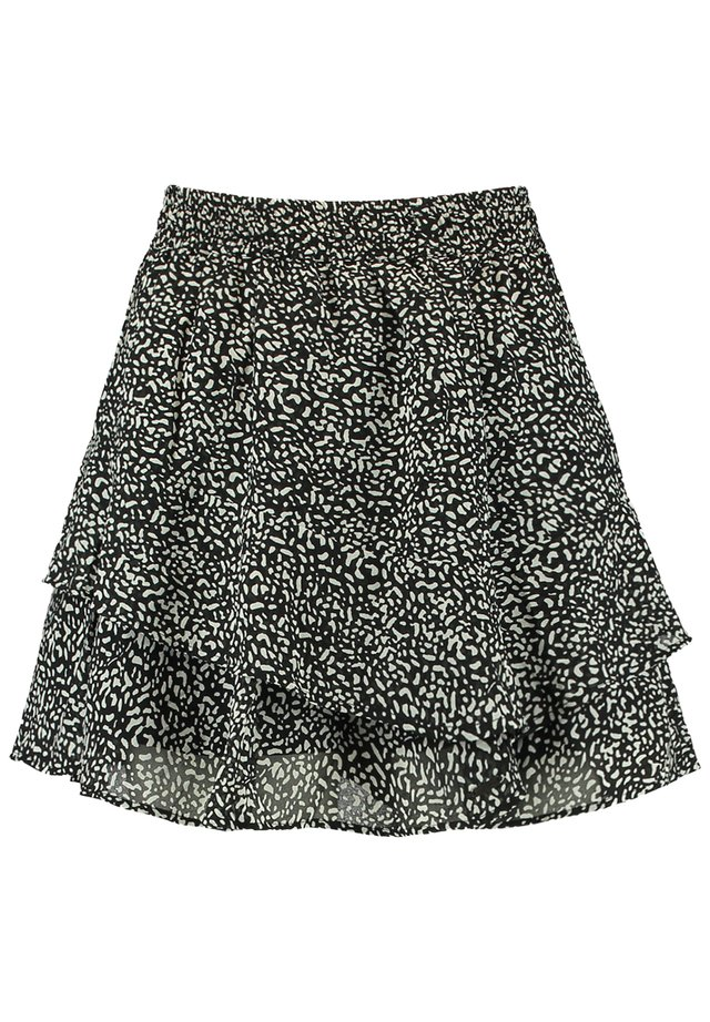 ROCK RILEY - A-lijn rok - black/white