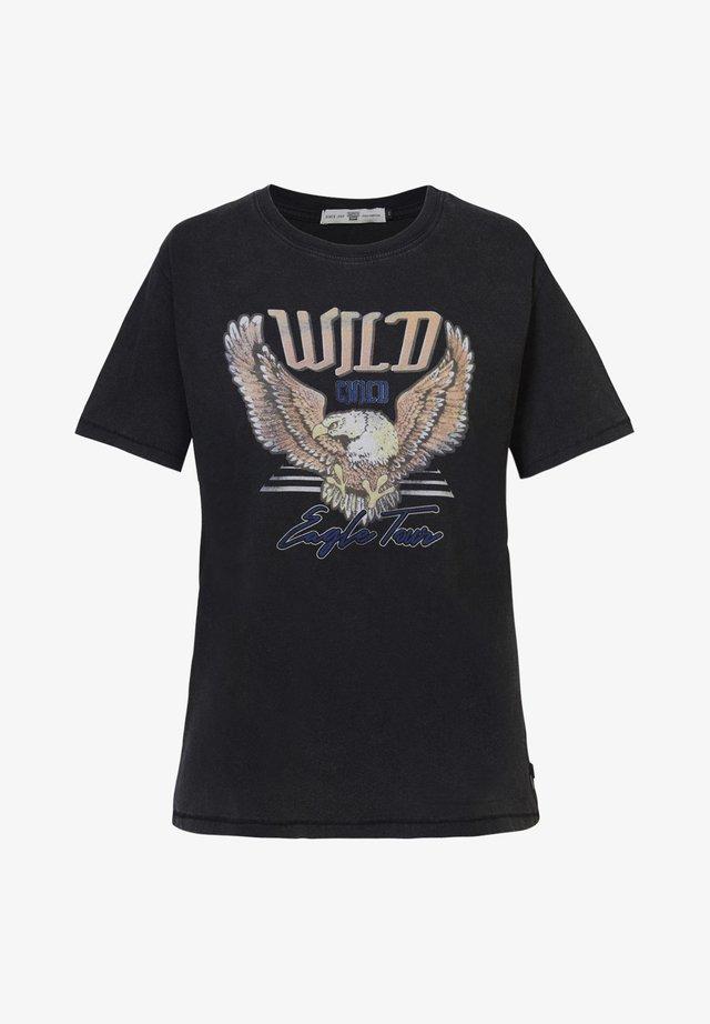 EYLEEN EAGLE - T-shirt print - washed black