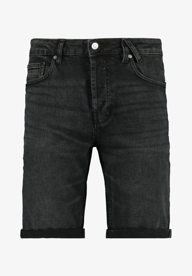 ROBERT - Jeansshort - black denim
