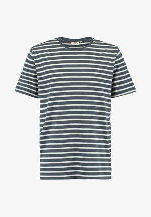ELBA - T-shirt print - navy/white