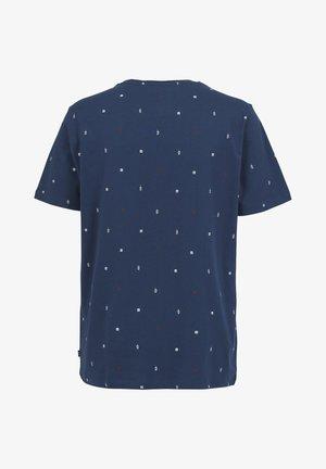 EDWIN SHAKE - T-shirt print - navy