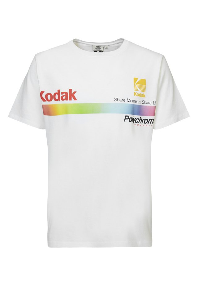 ERIK RAINBOW - T-shirt print - white