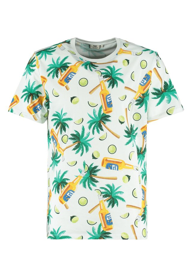 ERWIN BOTTLE - Print T-shirt - white/multi