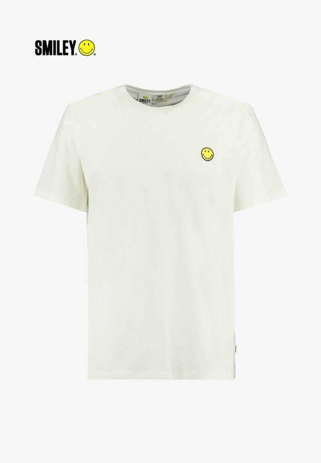 ECHO BADGE - T-shirt basic - off white