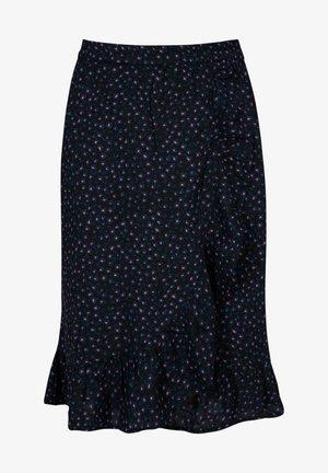 ROCK ROMEE JR - A-line skirt - washed black
