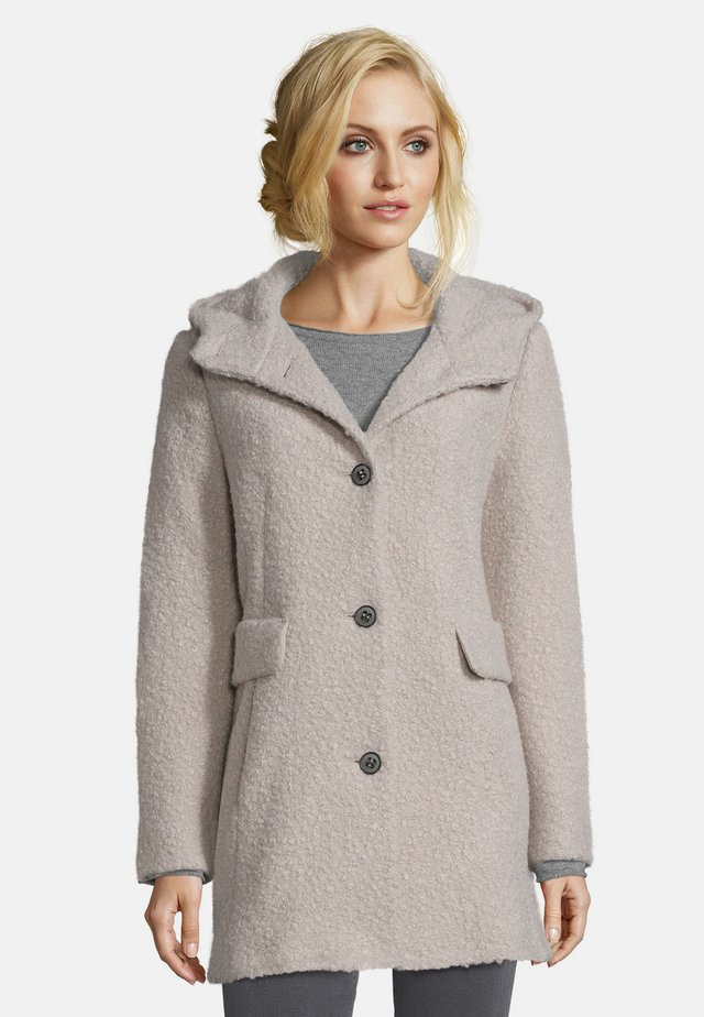 MIT KAPUZE - Short coat - silver grey