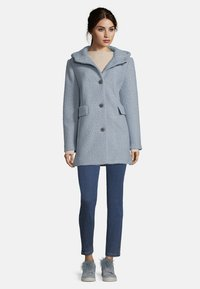 Amber & June - MIT KAPUZE - Short coat - dusty blue - 1