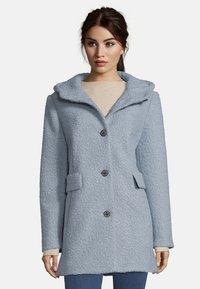Amber & June - MIT KAPUZE - Short coat - dusty blue - 0