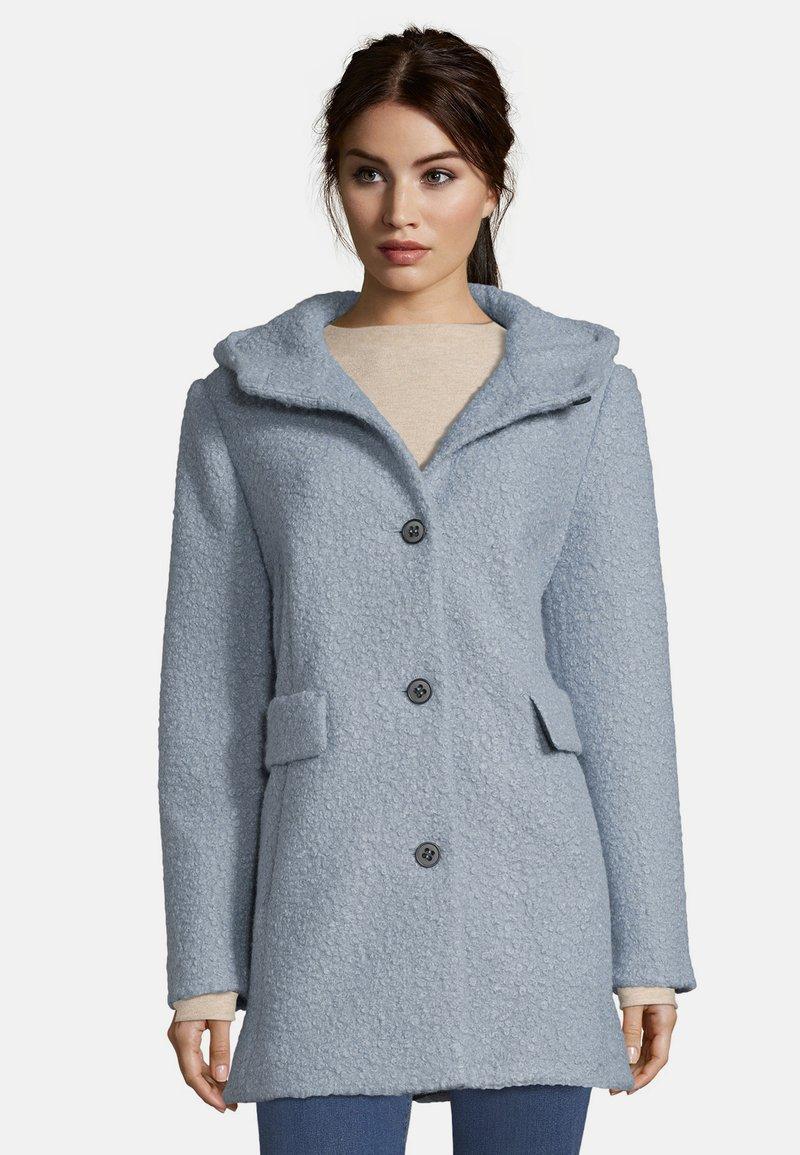 Amber & June - MIT KAPUZE - Short coat - dusty blue