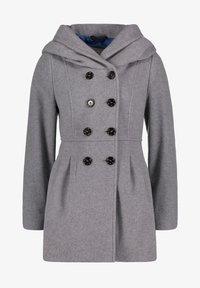 Amber & June - MIT KAPUZE - Short coat - grey melange - 3