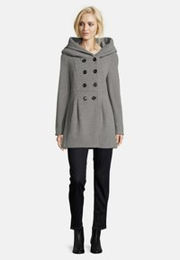 Amber & June - MIT KAPUZE - Short coat - grey melange - 1