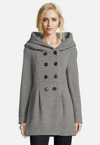 Amber & June - MIT KAPUZE - Short coat - grey melange - 0