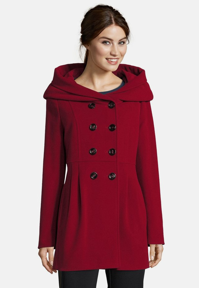 MIT KAPUZE - Short coat - dark red