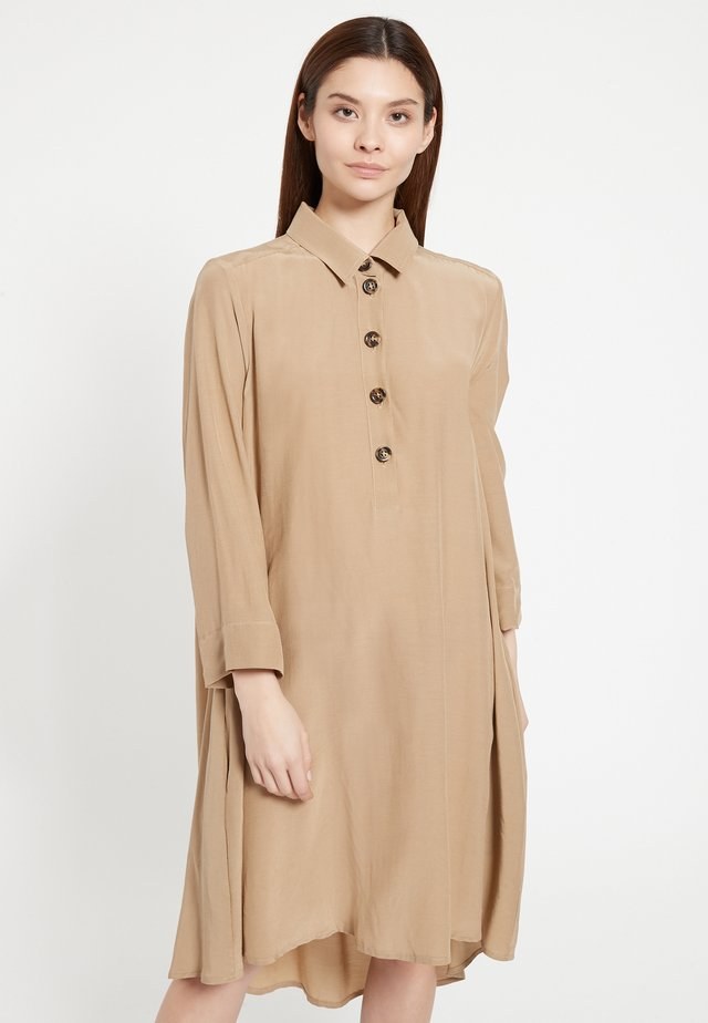 ANOKRYS - Shirt dress - beige
