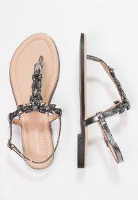 Anna Field - T-bar sandals - dark gray - 2