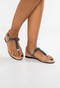 Anna Field - T-bar sandals - dark gray - 0