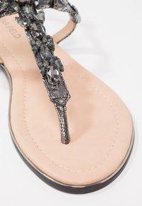 Anna Field - T-bar sandals - dark gray - 6