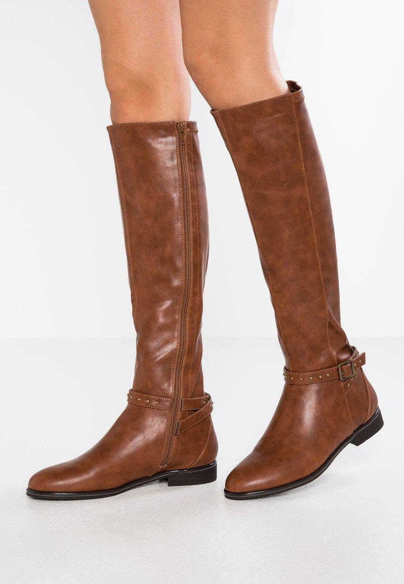 Anna Field - Cowboy/Biker boots - cognac