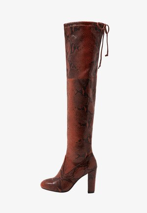 Boots med høye hæler - red