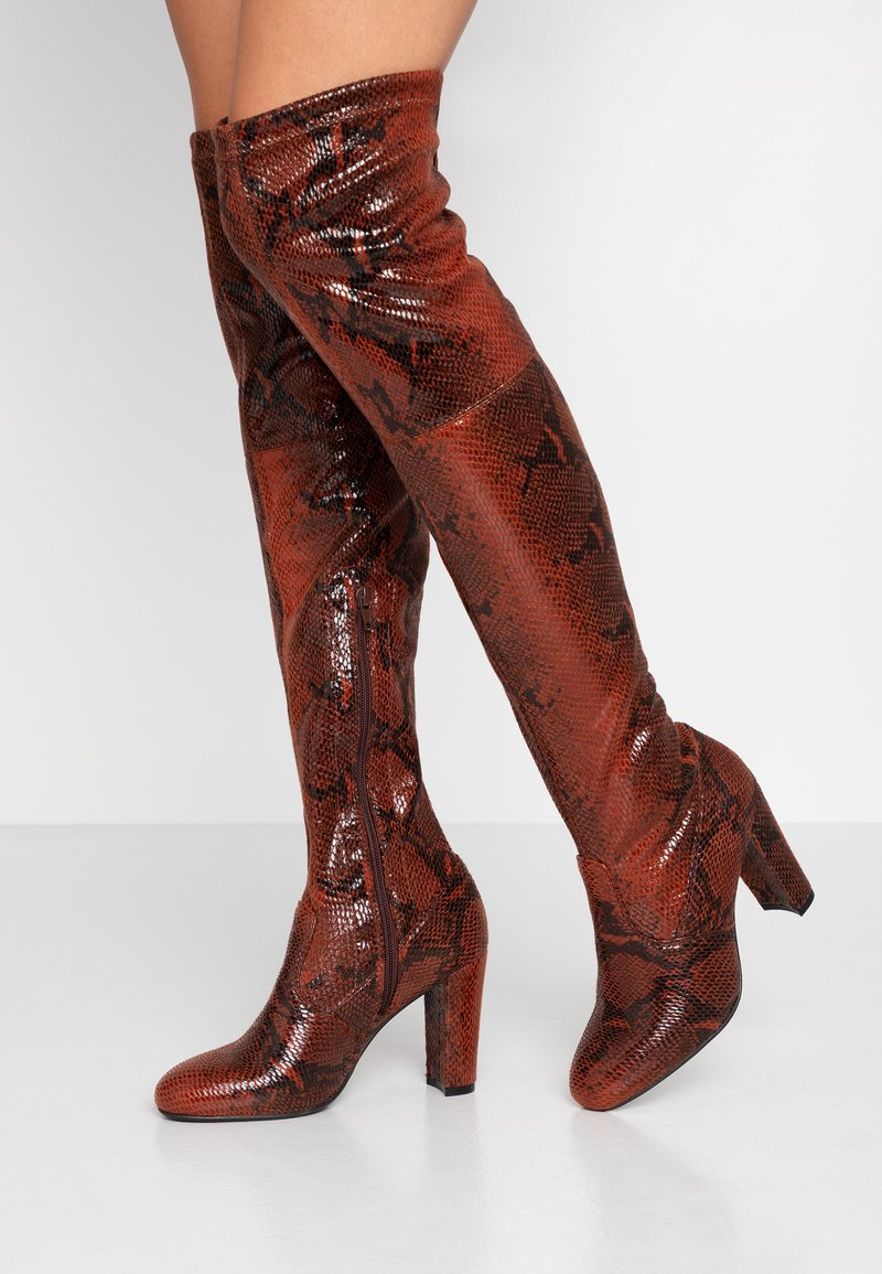 Anna Field - Boots med høye hæler - red