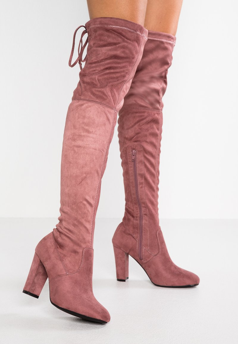 Anna Field - High heeled boots - mauve