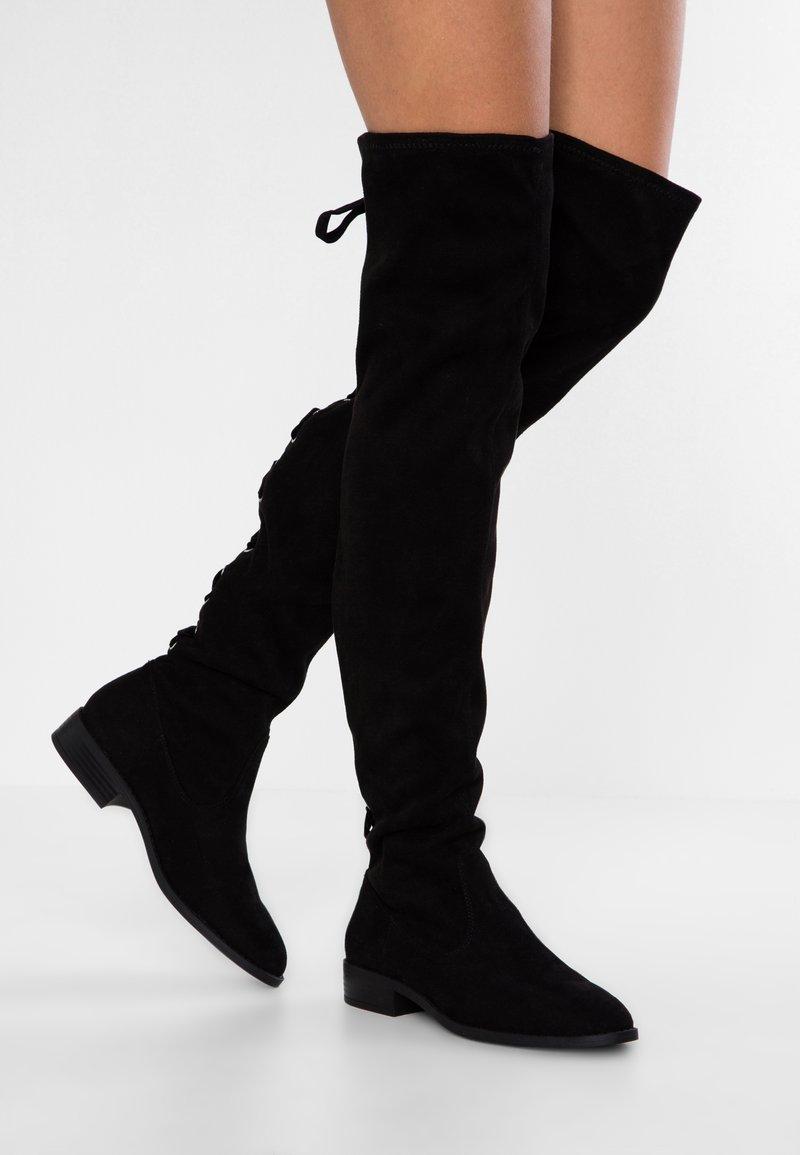 Anna Field - Kozačky nad kolena - black