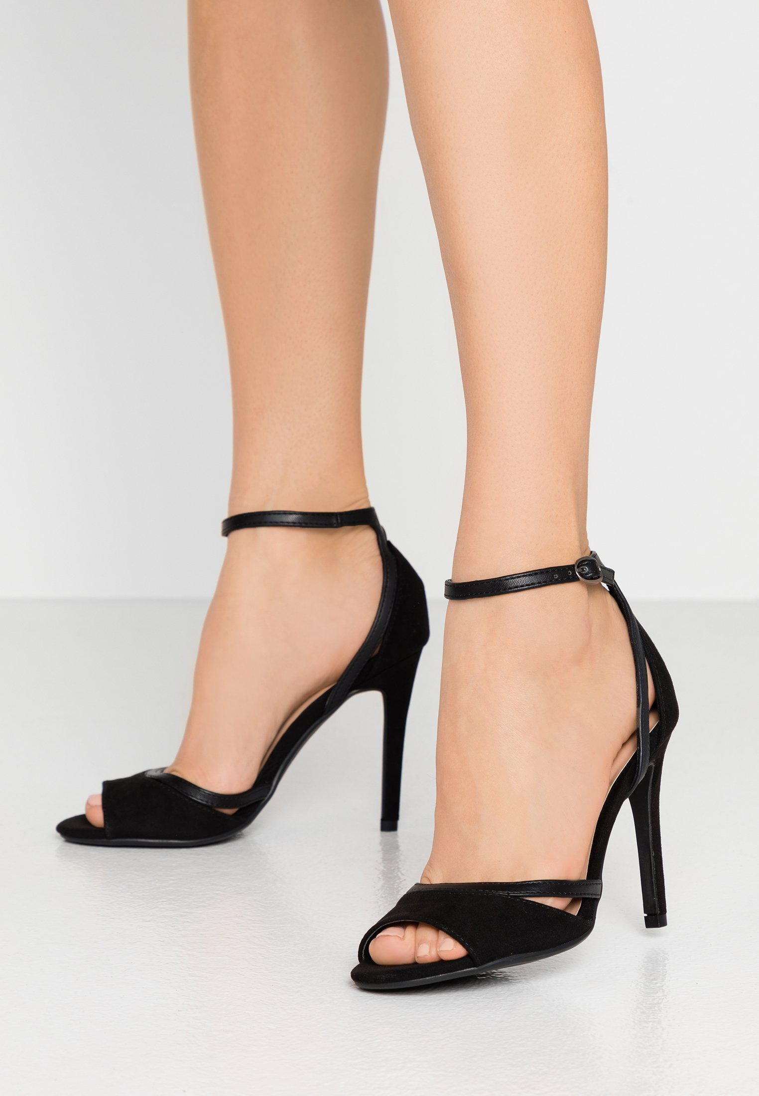 IWlxz Womens Suede Spring//Summer Sandals Heterotypic Heel Open Toe Buckle Black//Yellow//Screen Color