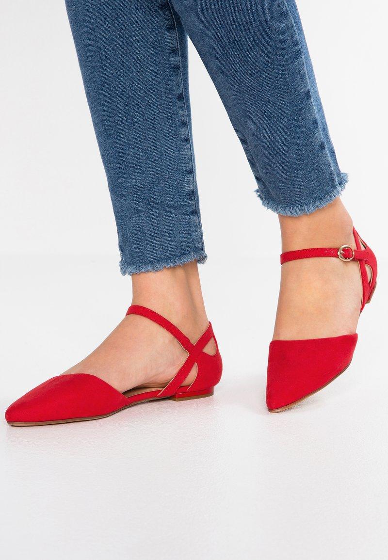 Anna Field - Ballerinasko m/ rem - red
