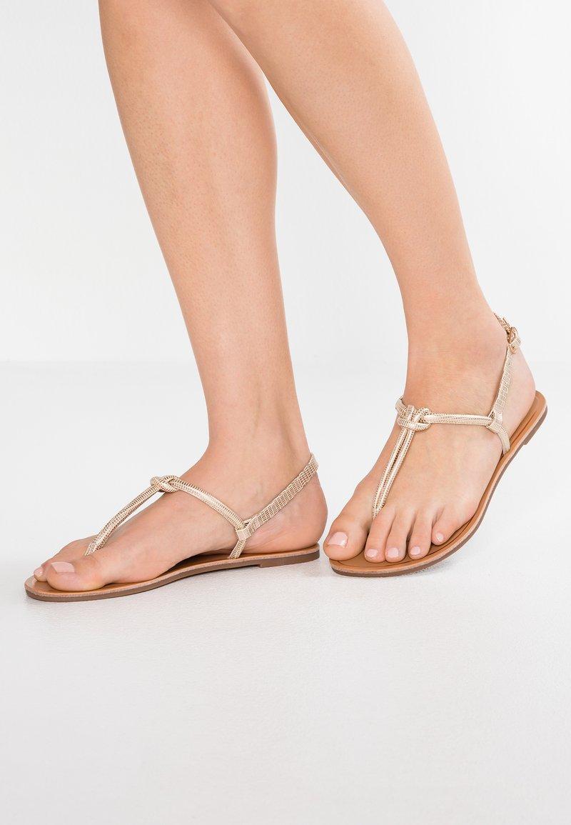 Anna Field - T-bar sandals - rose-gold