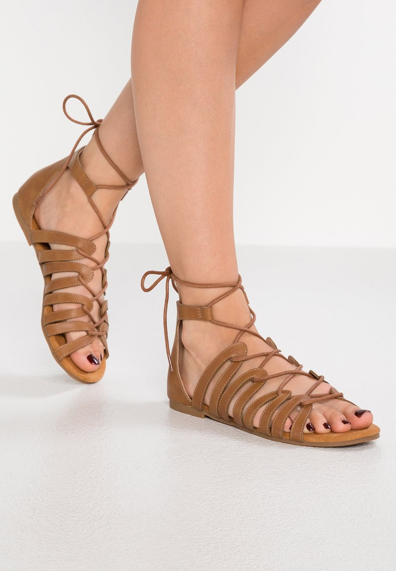 Anna Field - Sandals - cognac