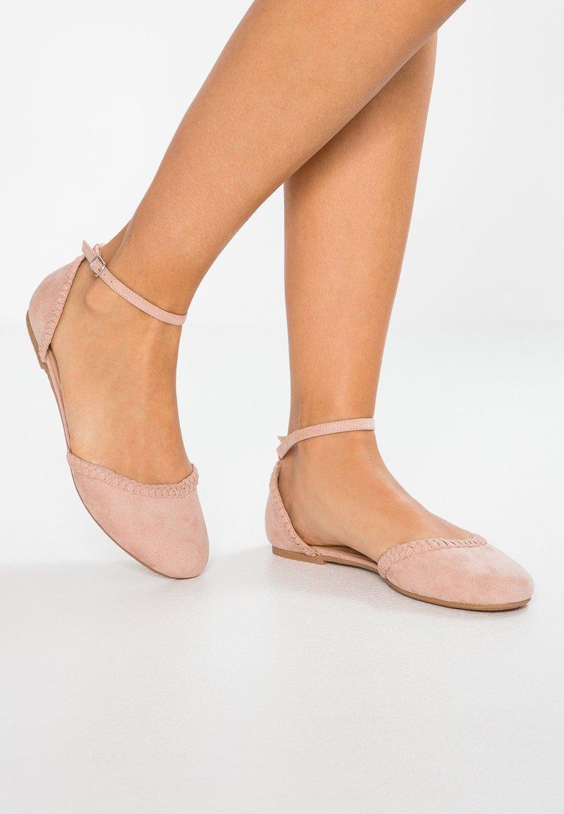 Anna Field - Ballerina's met enkelbandjes - nude