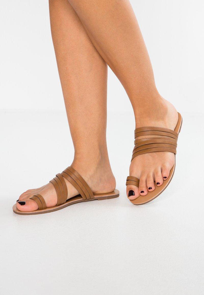 Anna Field - T-bar sandals - cognac