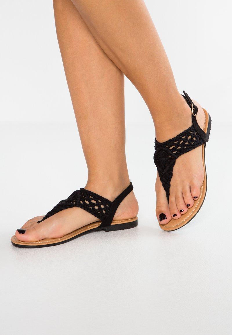 Anna Field - Sandály s odděleným palcem - black