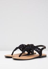 Anna Field - Sandály s odděleným palcem - black - 4